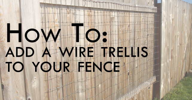 how to add a wire trellis to your fence