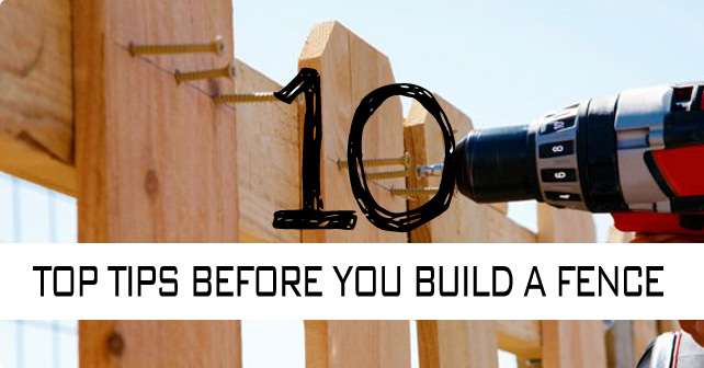 10 top tips before you build a fence