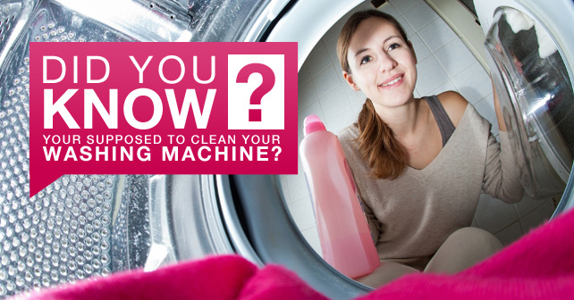 Did you know your supposed to clean your washing machine?