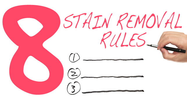 8 stain removal rules for every home